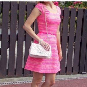 Lilly Pulitzer bright pink tweed mini dress
